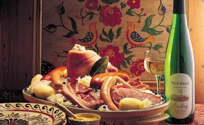 Alsatian food and wine