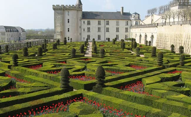 The gardens of the magnificent Chateau Villandry
