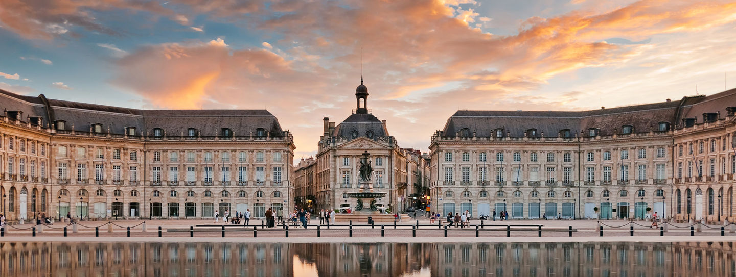 The city of Bordeaux