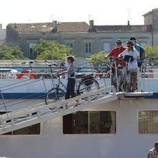 MS Bordeax Heading off Cycling
