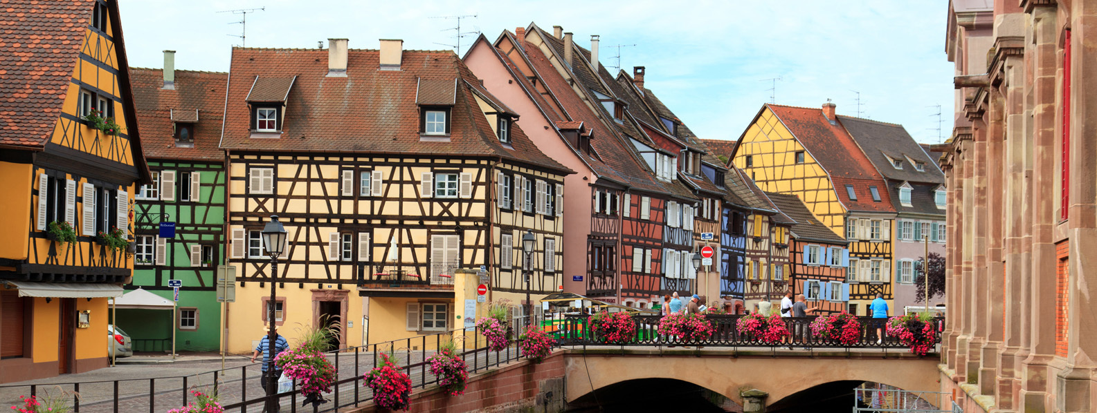 Colourful houses of Alsace