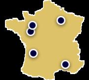 France Tour map