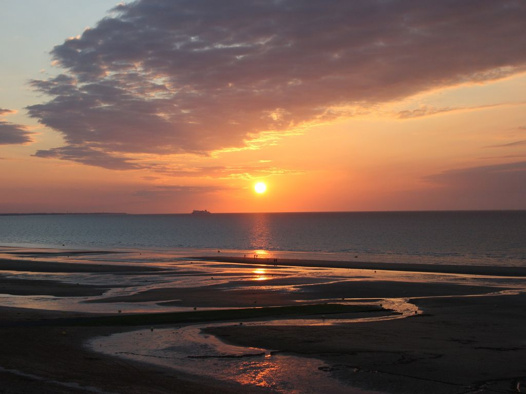 A beautiful sunset on one of Normandy's beaches