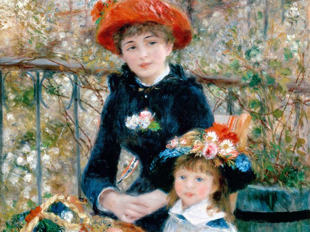 'Two Sisters on the Terrace' by Pierre Auguste Renoir