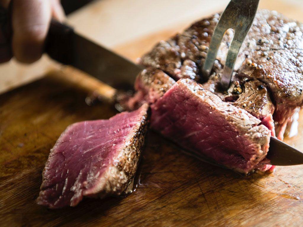 A beautiful local steak