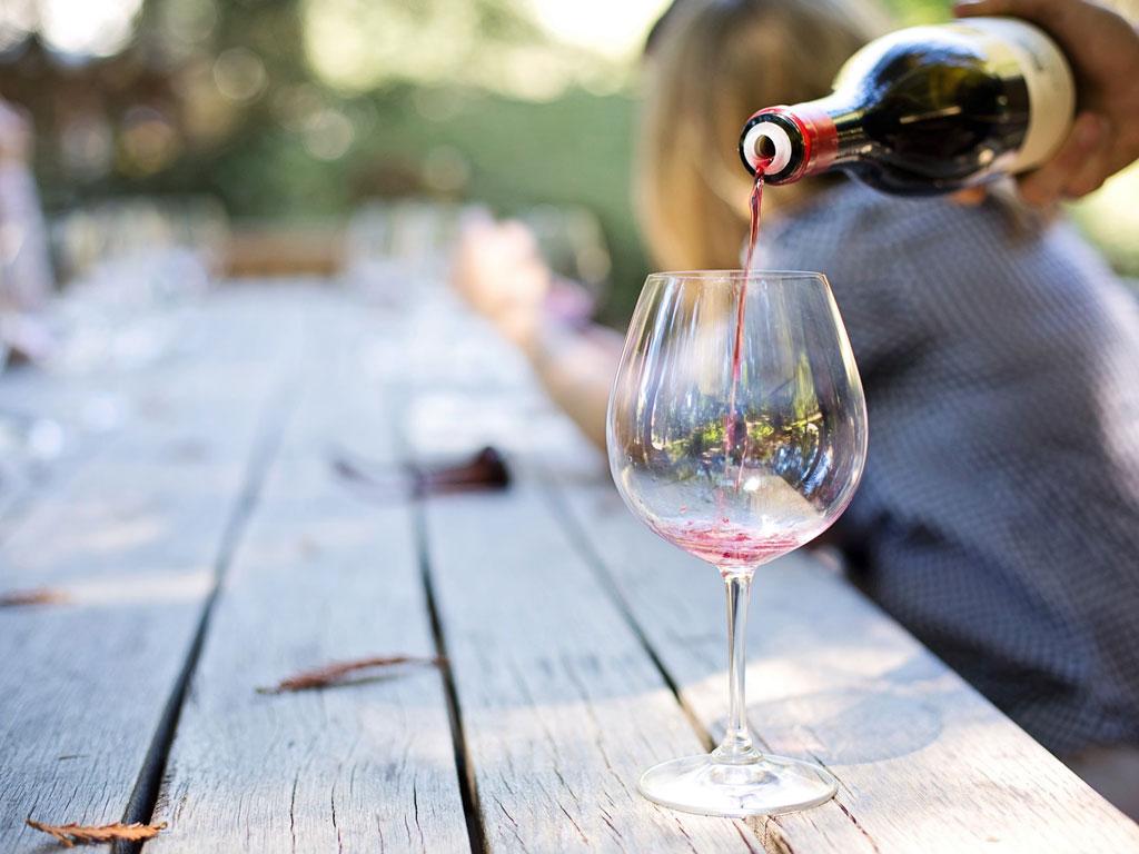 A glass of Bordeaux wine